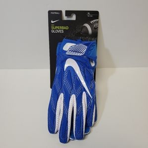 NIKE SUPERBAD FOOTBALL WIDE RECEIVER GLOVES Blue